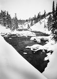 River in winter, Yellowstone Stock Photography