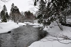 River in Wintry countryside Royalty Free Stock Photo