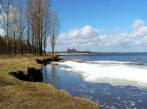 river wiosna Zdjęcie Royalty Free