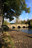 River Wye Bakewell Darbyshire. Bakewell is a small market town in Derbyshire, England, deriving its name from 'Badeca's Well'. It is the only town included in Royalty Free Stock Photos