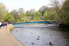 River Wye, Bakewell, Derbyshire. Stock Images