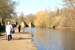 River Wye, Bakewell, Derbyshire. Stock Photos