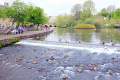 River Wye, Bakewell, Derbyshire. Stock Photo