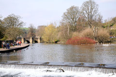 River Wye, Bakewell, Derbyshire. Stock Photography