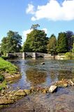 River Wye and bridge, Ashford-in-the-Water. Stock Photography