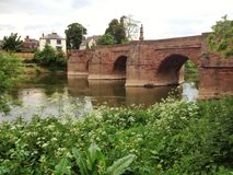 River Wye bridge Ross on Wye Royalty Free Stock Images