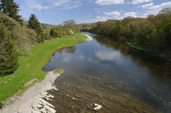 River Wye at Erwood Bridge Stock Photography