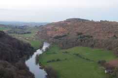 River Wye near Symonds Yat. A view of river Wye from the top of Yat rock Symonds Yat Stock Photo