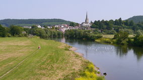 The River Wye at Ross On Wye Stock Photos