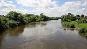 River Wye running through Ross-on-Wye Herefordshire England uk a small market town stock footage