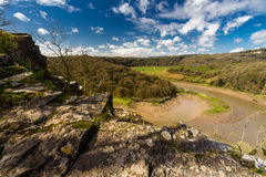 River Wye at Wintour's Leap. Royalty Free Stock Photos