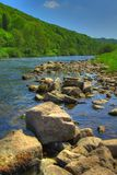 The River Wye - Wye Valley - England/Wales. The River Wye (Welsh: Afon Gŵy) is the fifth-longest river in the United Kingdom Royalty Free Stock Images