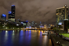 River Yarra night, Melbourne Stock Image