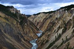 River in Yellowstone Stock Photos