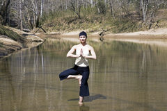 River Yoga Stock Images