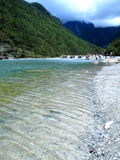 River - Yunan White Water River. It is a river formed by runoff from the Yunnan Jade Dragon Snow Mountain, runs towards the east.  The river water is a favorite Royalty Free Stock Photography