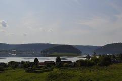 The river Yuryuzan summer 2017 stock image
