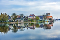River Zaan  Zaanse Schans Village Holland Netherlands Stock Photography