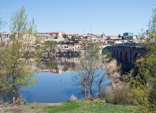 River of Zamora with bridge Royalty Free Stock Image