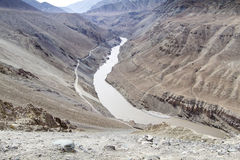 The river Zanskar in Ladakh, India Stock Photo
