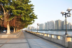 River. Beside Zhu river in south China, the second big river in China stock photo