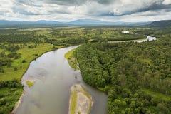 River Zhupanova. Kronotsky Nature Reserve on Kamchatka Peninsula. Royalty Free Stock Image