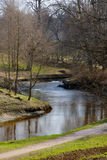 River zigzag in park Royalty Free Stock Photography