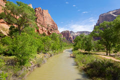 River through Zion Stock Photography