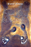 Rivera's footprints Stock Image