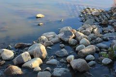 Riverbank. Autumn in Saskatoon Stock Photos