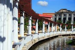 Riverbank de ville de Melaka Image stock