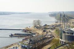 Riverbank de Vistula em Plock fotografia de stock royalty free