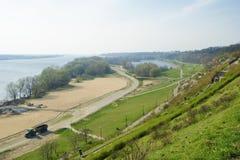 Riverbank de Vistula em Plock fotos de stock royalty free