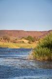 Riverbank del río anaranjado, Suráfrica, África imágenes de archivo libres de regalías