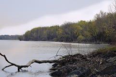 Riverbank an der Dämmerung Lizenzfreie Stockbilder