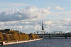 Riverbank di Daugava Fotografia Stock