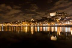 Riverbank di Douro a Oporto, Portogallo Fotografie Stock Libere da Diritti