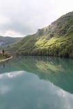 Riverbank di Drina, Bosnia Fotografie Stock Libere da Diritti