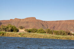 Riverbank of Orange River, South Africa Royalty Free Stock Photo