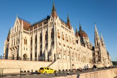 Riverbank, Parliament building, Budapest Stock Photography