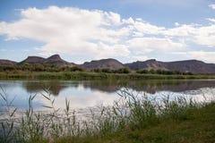 Riverbank Pomarańczowa rzeka, Południowa Afryka obrazy stock
