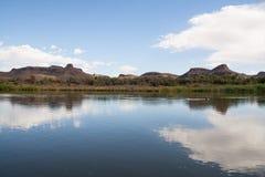 Riverbank Pomarańczowa rzeka, Południowa Afryka obraz royalty free