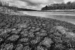 Riverbank Red River foto de archivo