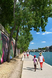 Riverbank of the Seine, Paris, France. Royalty Free Stock Photography