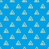Riverbank traffic sign pattern seamless blue Royalty Free Stock Images