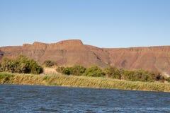 Riverbank van Oranje Rivier, Zuid-Afrika Royalty-vrije Stock Foto