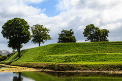 Riverbank verde fotografia stock
