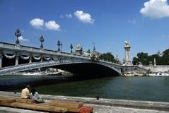 Riverbanks recentemente transformados do Seine Fotos de Stock