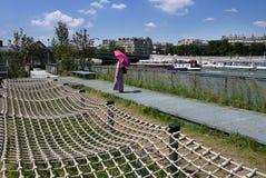 Riverbanks recentemente transformados do Seine Fotografia de Stock Royalty Free
