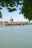 Riverbanks of Toulouse Stock Image